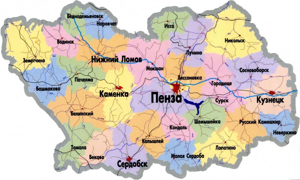 Пачелма пензенская область на карте